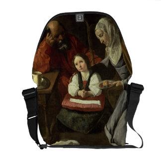La familia santa (aceite en lona) (para los detall bolsa de mensajeria