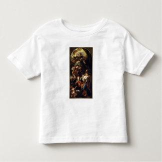 La familia santa (aceite en lona) playera de bebé