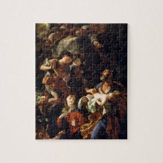 La familia santa (aceite en lona) puzzle con fotos