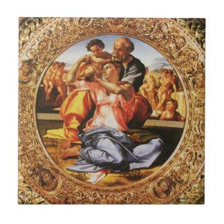 La familia santa azulejo cuadrado pequeño