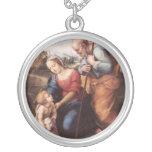 La familia santa con el cordero colgante personalizado