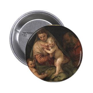 La familia santa con el niño Juan de Paolo Verones Pin