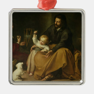 La familia santa con el pequeño pájaro, c.1650 ornamento de reyes magos