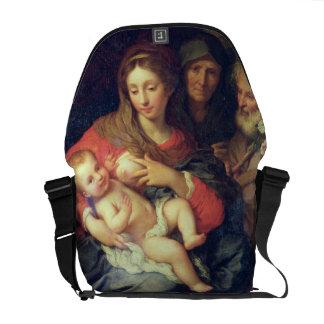 La familia santa con Elizabeth (aceite en el panel Bolsa De Mensajería