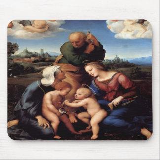 La familia santa con los santos Elizabeth y Juan Alfombrilla De Raton