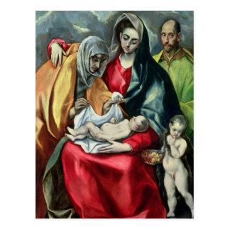 La familia santa con St Elizabeth 1580-85 Postal