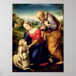 La familia santa con un cordero, 1507 póster