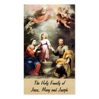 La familia santa de Jesús, de Maria y de José Plantilla De Tarjeta Personal