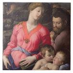La familia santa de Panciatichi, c.1530-32 (aceite Teja