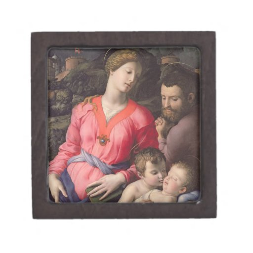La familia santa de Panciatichi, c.1530-32 (aceite Caja De Recuerdo De Calidad