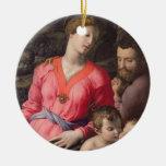 La familia santa de Panciatichi, c.1530-32 (aceite Ornamento De Reyes Magos
