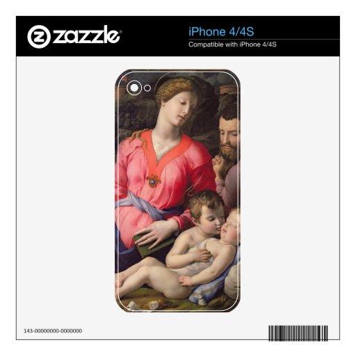 La familia santa de Panciatichi, c.1530-32 (aceite Calcomanía Para iPhone 4