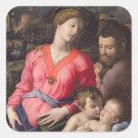 La familia santa de Panciatichi, c.1530-32 (aceite Pegatina Cuadrada