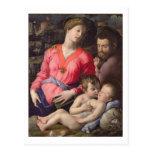 La familia santa de Panciatichi, c.1530-32 (aceite Tarjetas Postales