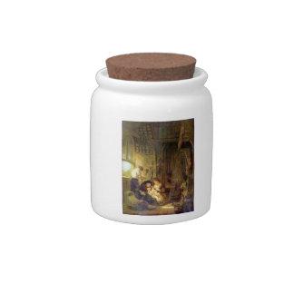 La familia santa de Rembrandt Harmenszoon van Rijn Platos Para Caramelos