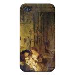La familia santa de Rembrandt Harmenszoon van Rijn iPhone 4 Carcasas