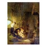 La familia santa de Rembrandt Harmenszoon van Rijn Postal
