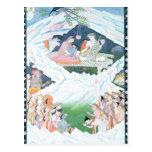 La familia santa de Shiva y de Parvati Postal