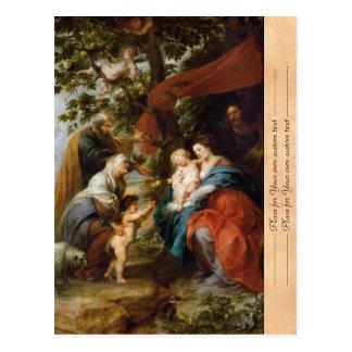 La familia santa debajo del manzano Rubens Paul Postales