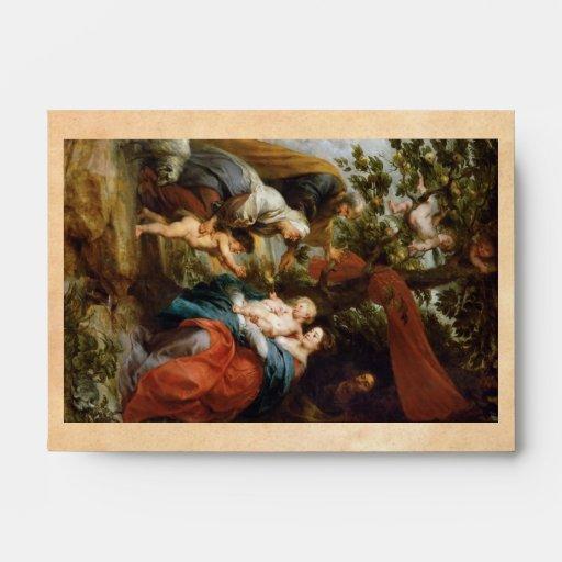 La familia santa debajo del manzano Rubens Paul Sobre