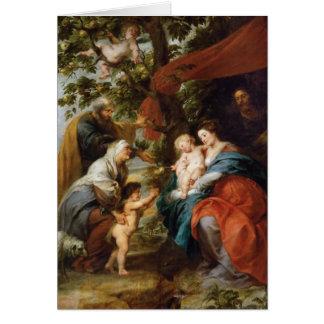 La familia santa debajo del manzano Rubens Paul Tarjeta Pequeña