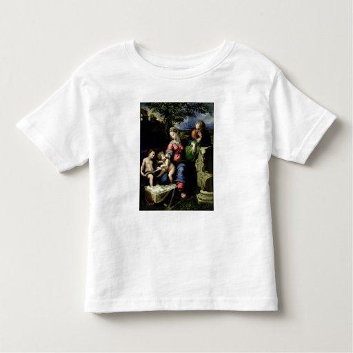 La familia santa del roble, c.1518 playera de bebé