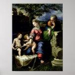 La familia santa del roble, c.1518 póster