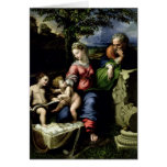 La familia santa del roble, c.1518 tarjeta de felicitación