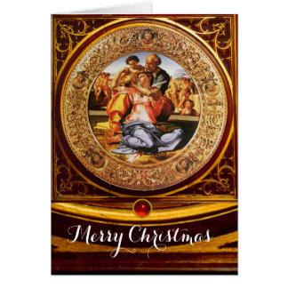 La familia santa - el Doni Tondo Tarjeta De Felicitación