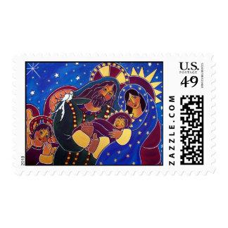 La familia santa en enero Oliverio Sello