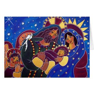 La familia santa en enero Oliverio Tarjeta De Felicitación