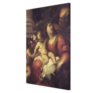 La familia santa impresión en lienzo estirada