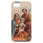 La familia santa - Jesús, Maria, y José iPhone 5 Case-Mate Coberturas