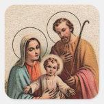 La familia santa - Jesús, Maria, y José Colcomania Cuadrada
