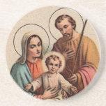 La familia santa - Jesús, Maria, y José Posavasos Para Bebidas