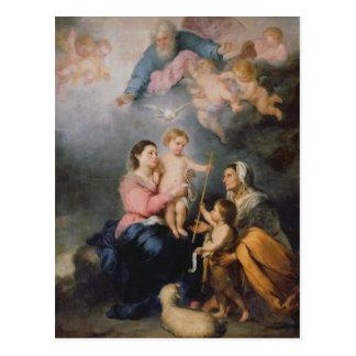 La familia santa o la Virgen de Sevilla Postal