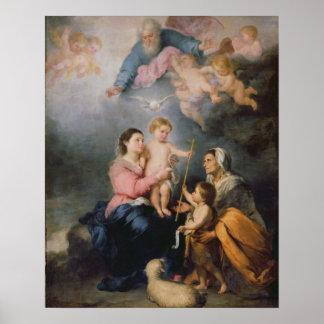 La familia santa o la Virgen de Sevilla Póster