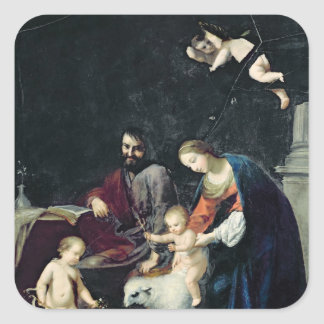 La familia santa colcomanias cuadradas personalizadas