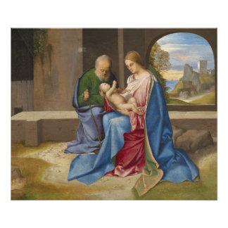La familia santa por Giorgione Cojinete