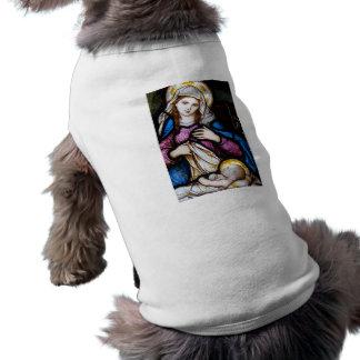 La familia santa que representa Madonna y al niño Playera Sin Mangas Para Perro