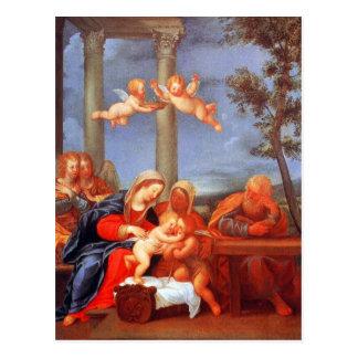 La familia santa (sacros Famiglia) Postal