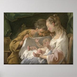 La familia santa, siglo XVIII Póster