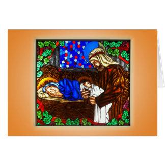 La familia santa tarjeta de felicitación