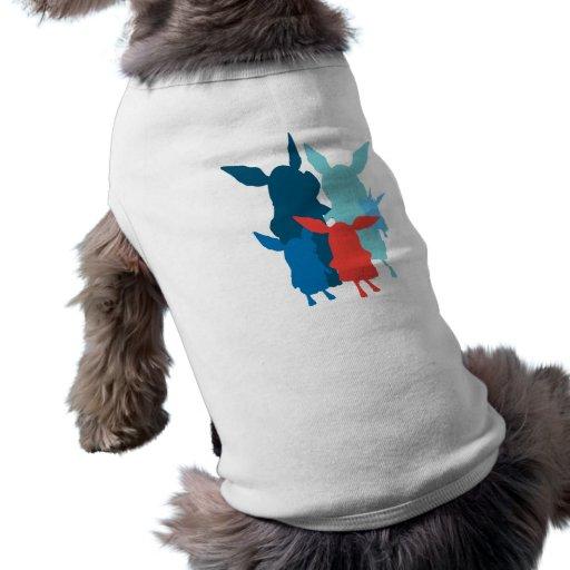 La familia - silueta ropa de perros