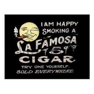 La Famosa 5 Cent Cigar Vintage Magic Lantern Slide Postcard