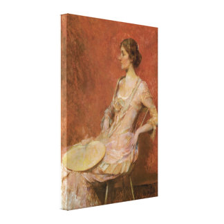 La fan de hoja de palma lienzo envuelto para galerias