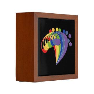 La fan del arco iris del Clef bajo elige colores Organizador De Escritorio