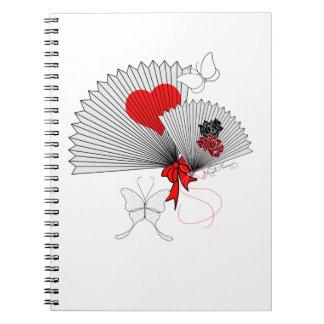La fan y las mariposas libros de apuntes con espiral