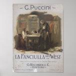 La Fanciulla del West Opera Posters