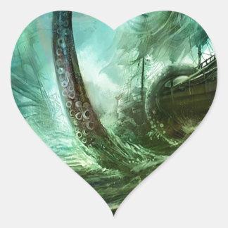 La fantasía abstracta piratea el tesoro de la pegatina en forma de corazón
